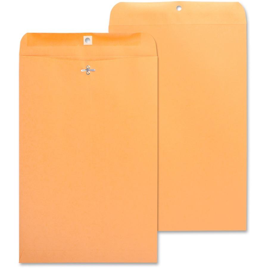 "100 Business Envelopes 10/""x13/"" Kraft Clasp Manila Catalog Yellow Brown Flap"
