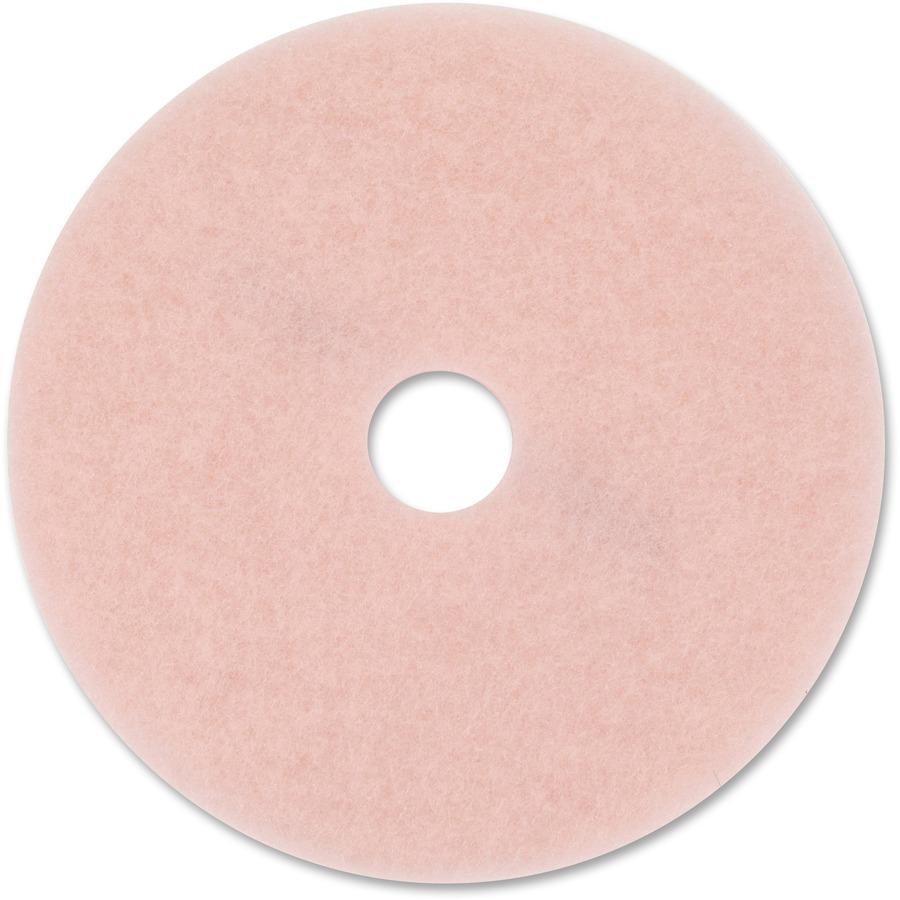 3m Eraser Burnish Pad 3600 5 Carton Synthetic Fiber Pink