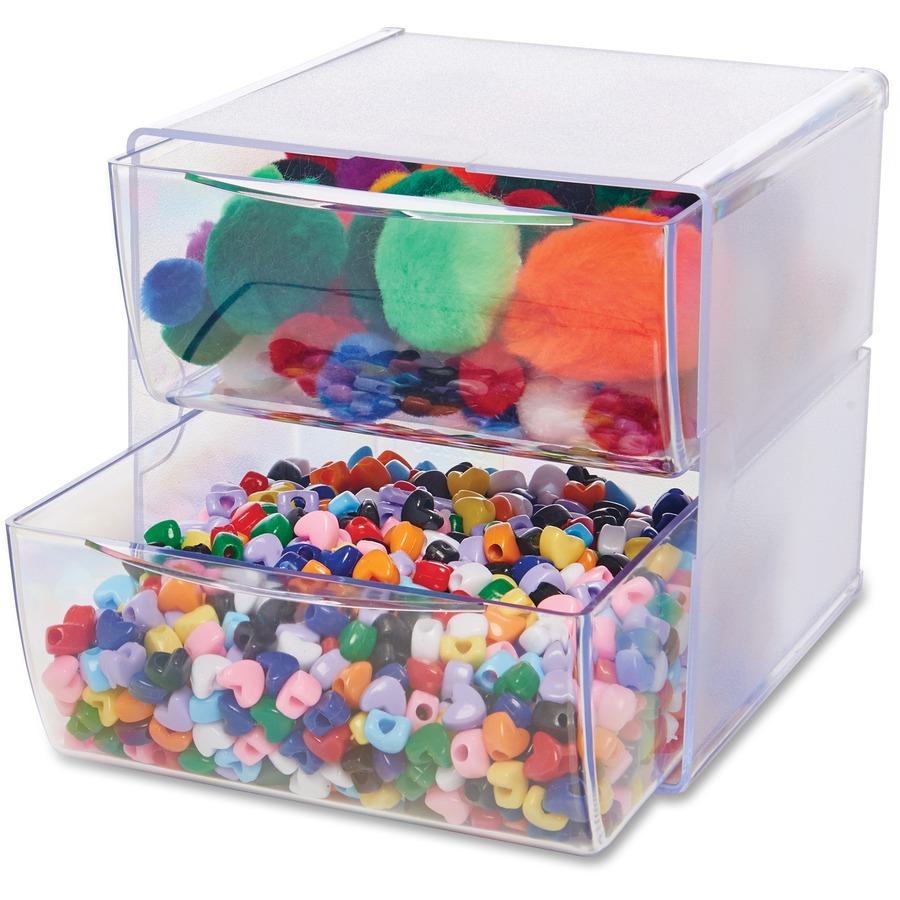 DEF350501 Deflecto Stackable Cube Organizer