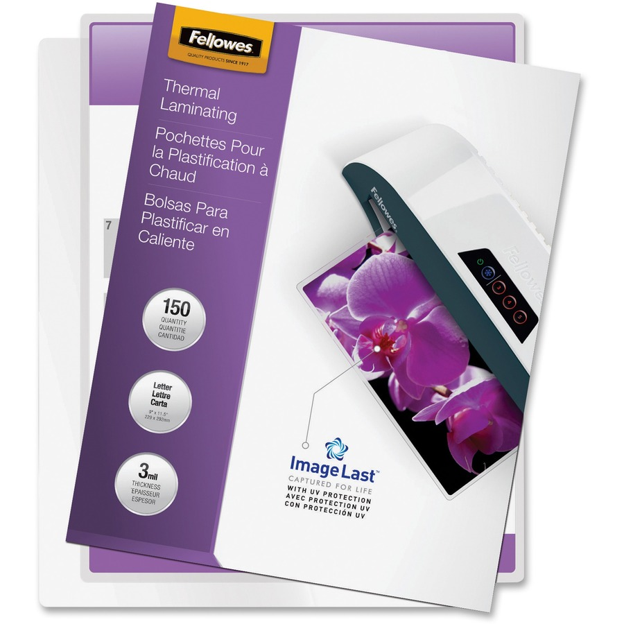 Fellowes 3mil Glossy Laminating Pouches Fel5200509
