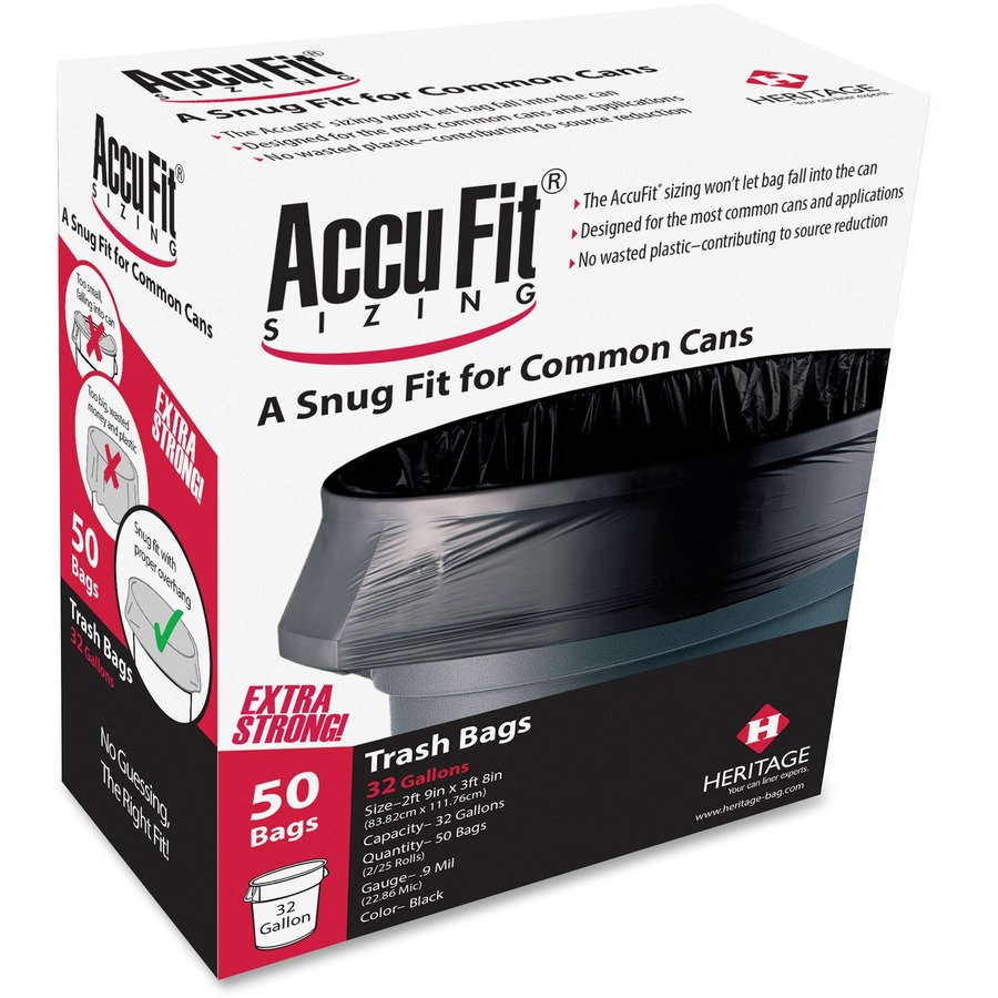 Attrayant Heritage Accufit Reprime 32 Gallon Can Liners HERH6644TKRC1
