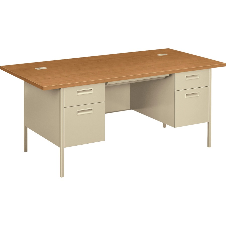HON Metro Classic Double Pedestal Desk ICC Business Products - Hon computer table