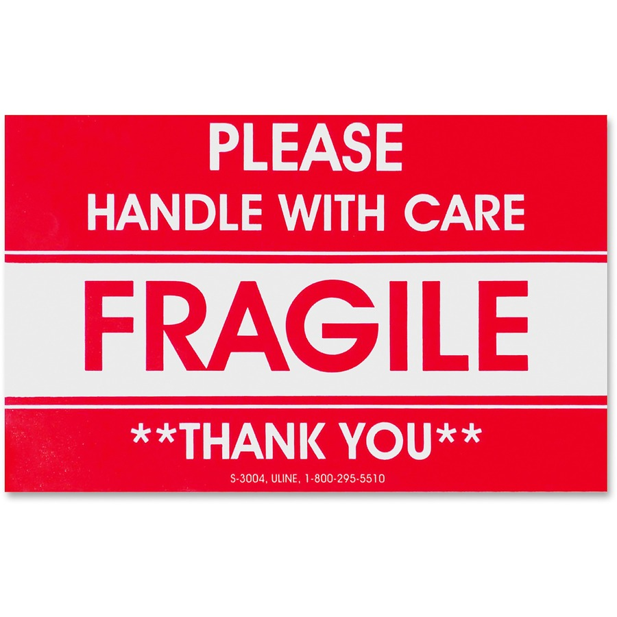 photograph about Fragile Printable identified as Tatco Delicate/Take care of With Treatment Delivery Label