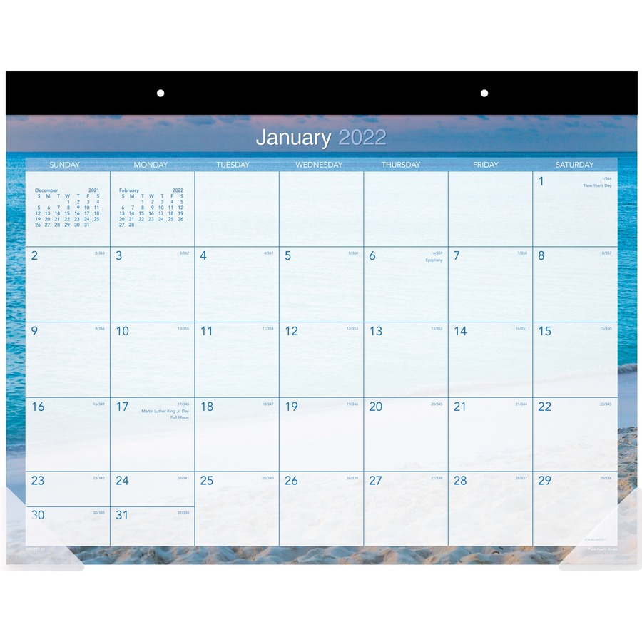 At A Glance Tropical Escape Calendar Monthly Desk Pad
