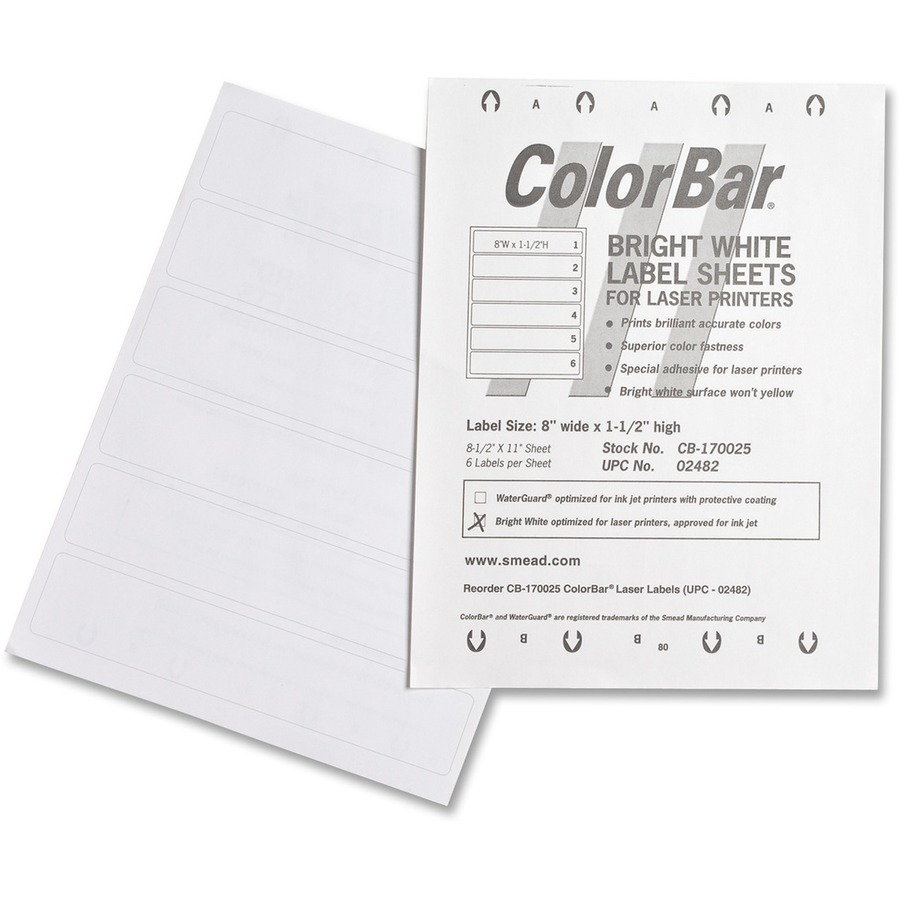 smd02482 smead colorbar label office supply hut