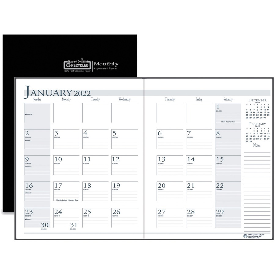 House of Doolittle Compact Economy Monthly Planner - Yes - Monthly
