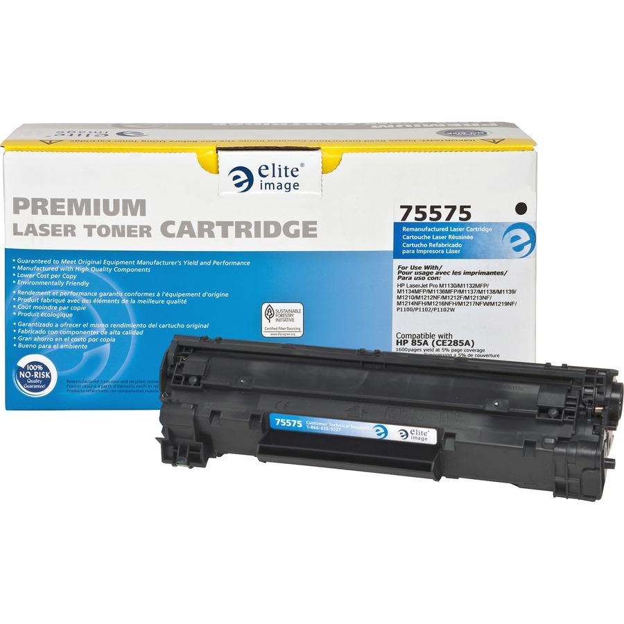 Eli75575 Elite Image Remanufactured Toner Cartridge Alternative Compatible Printer P1102 Ce285a 85a Laserjet For Hp