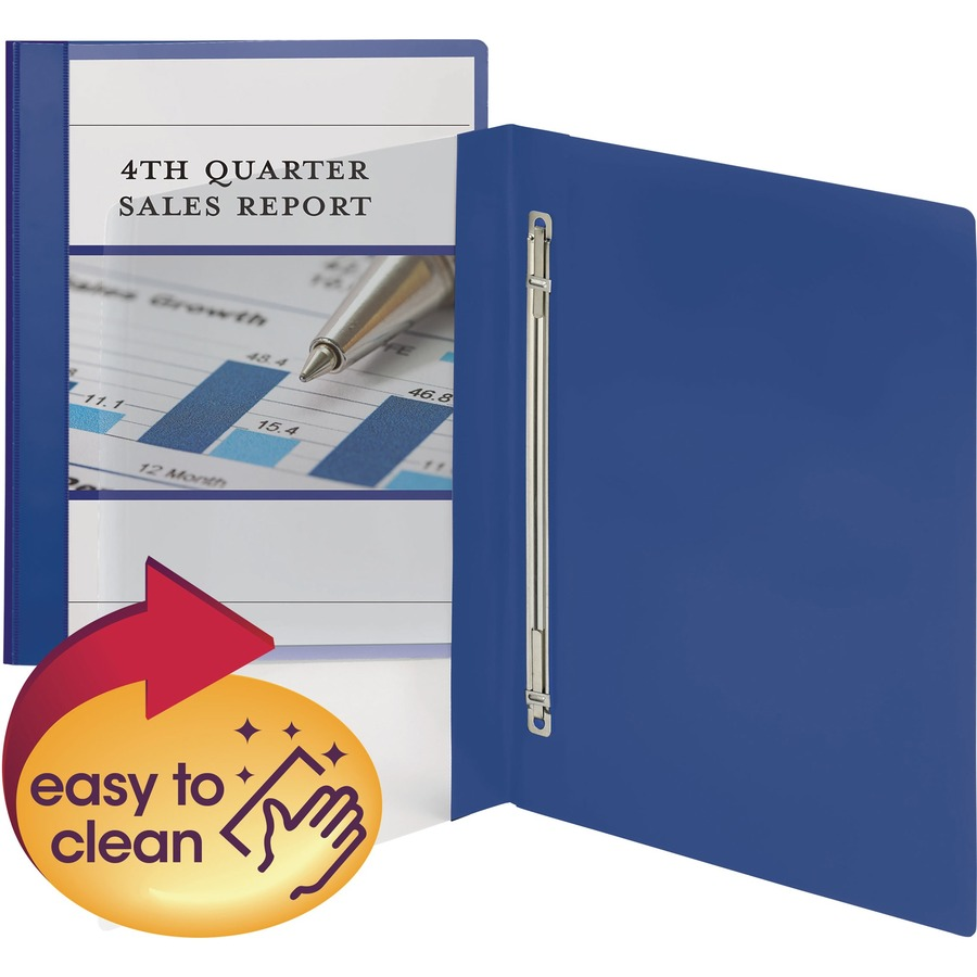 Smead Clear Front Poly Report Cover, Metal Fastener With