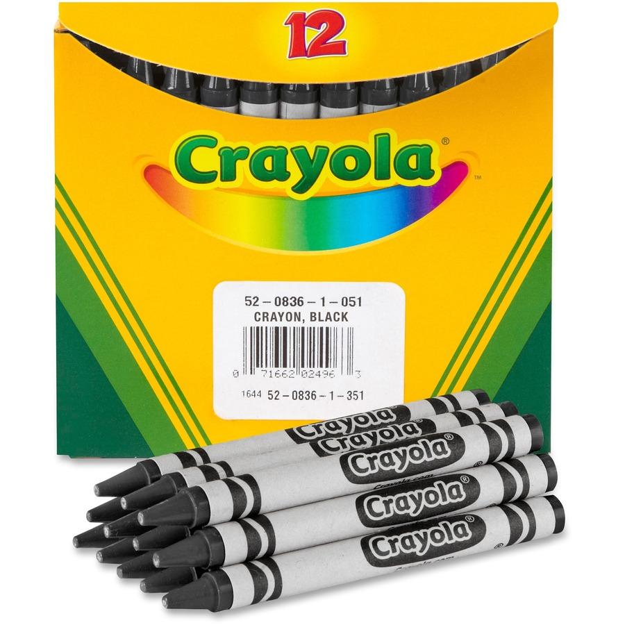 Crayola Bulk Crayons - Black - 12 / Box - Yuletide Office Solutions