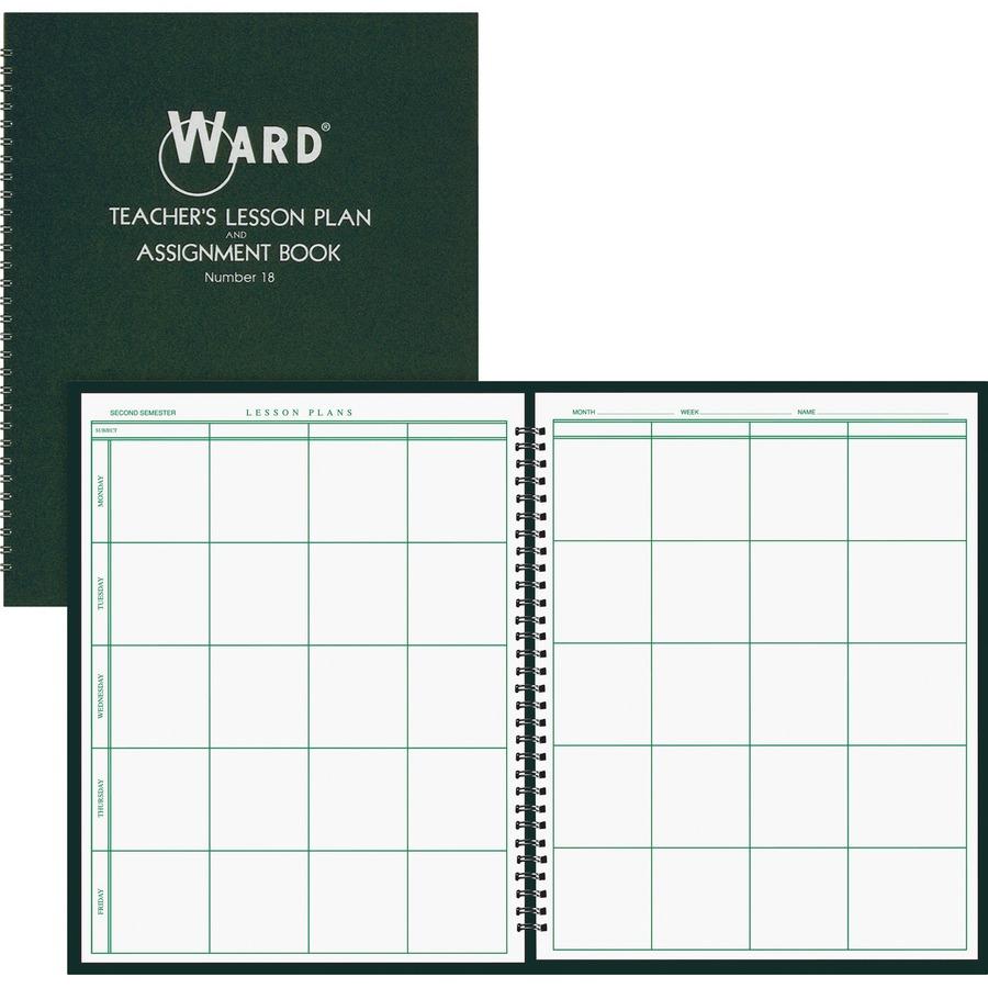 Ward Teacher's 8-period Lesson Plan Book - 9 Month - 8 1/2