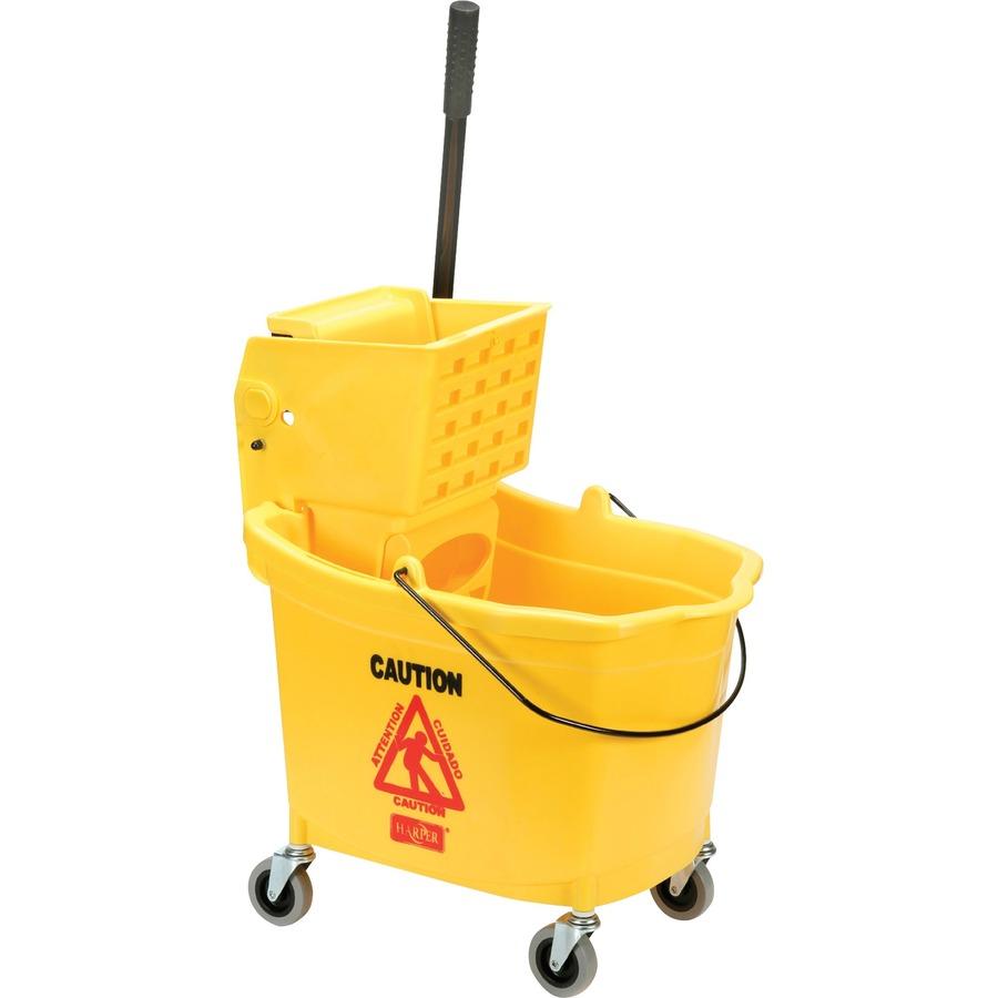 skilcraft wet mop bucket wringer combo