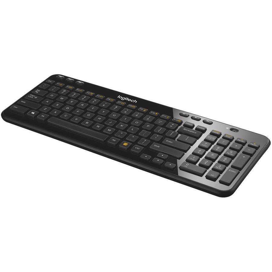 Logitech K360 Wireless Keyboard - Wireless Connectivity - RF
