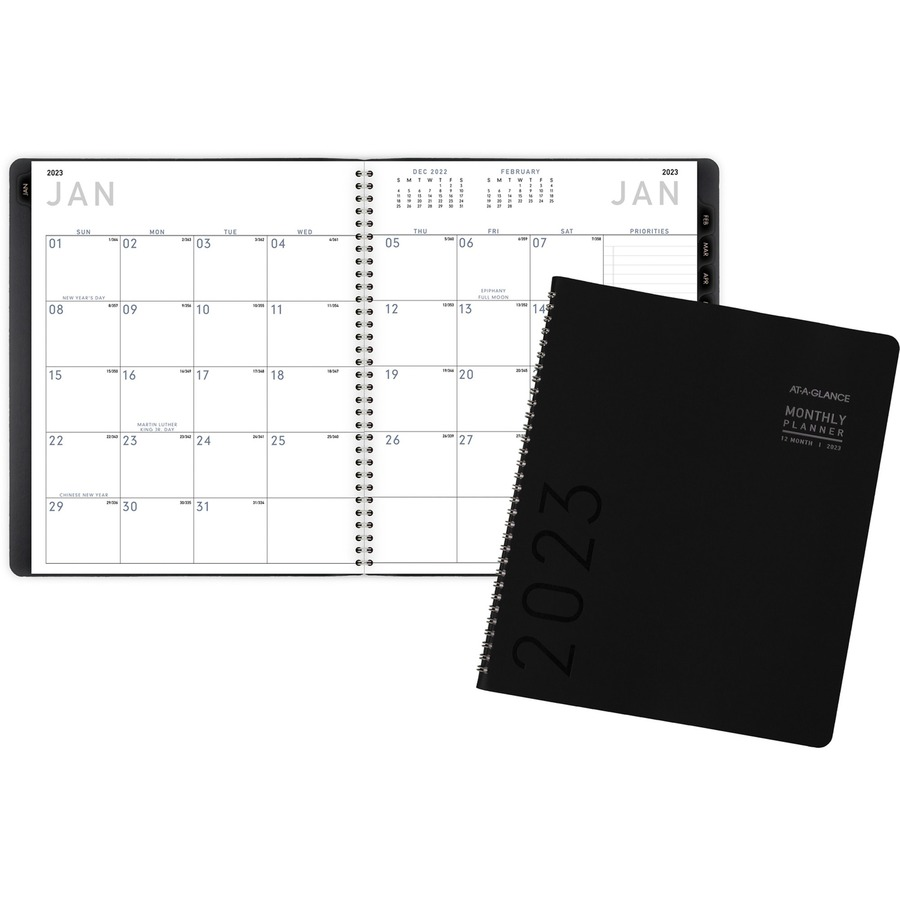 at a glance contemporary monthly planner urban office products