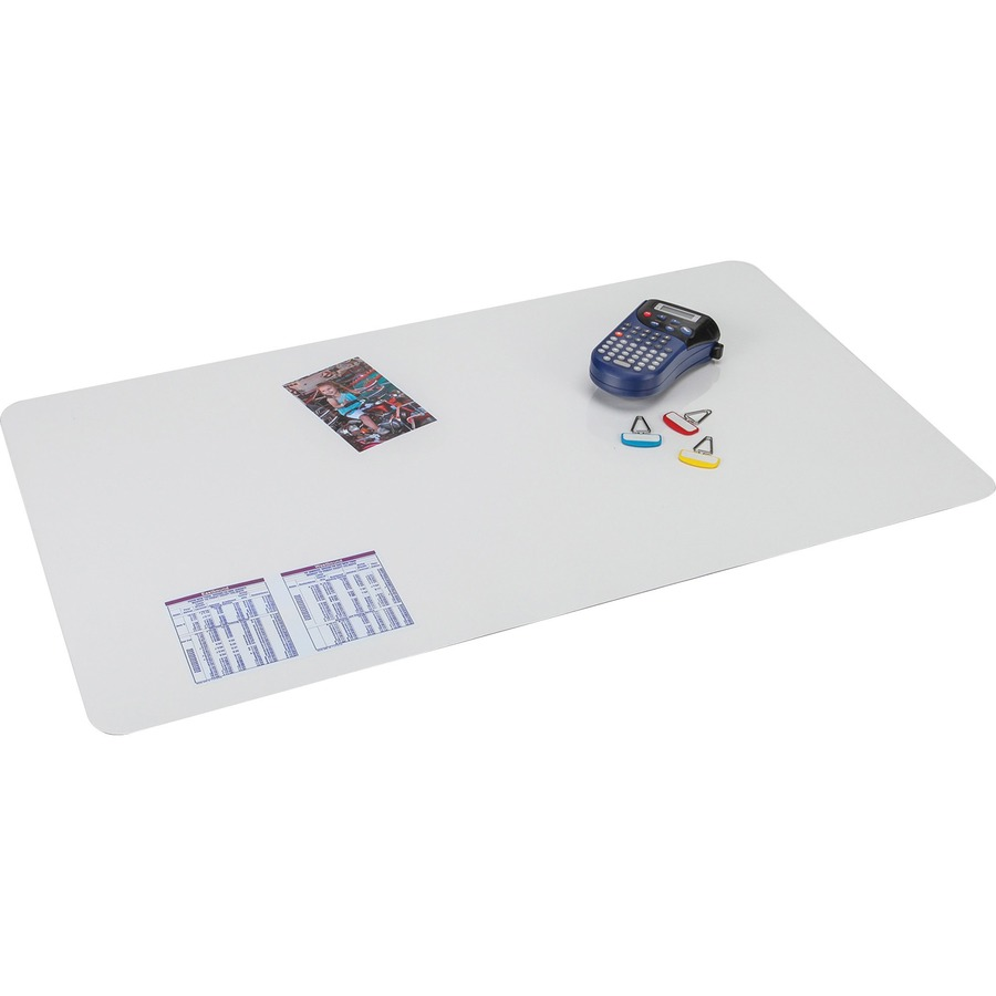 Artistic Krystal Microban Antimicrobial Desk Pad Rectangle 36 Width X 20 Depth Vinyl Clear