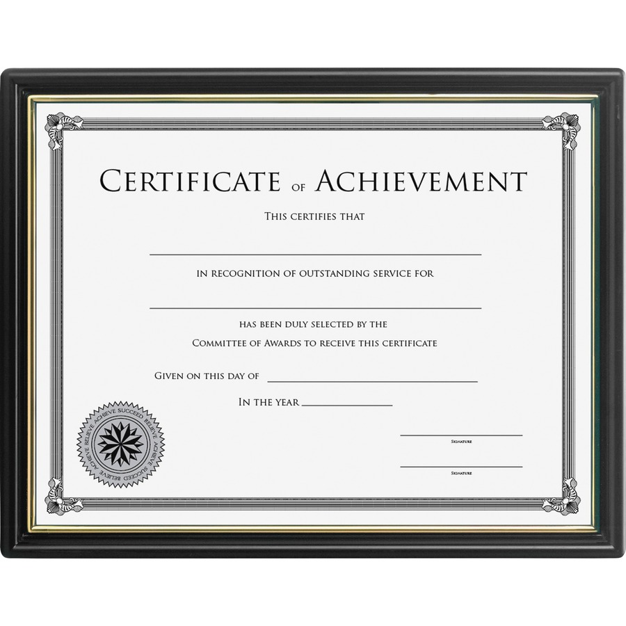 Lorell 8x10 Frame With Cert Of Achievement