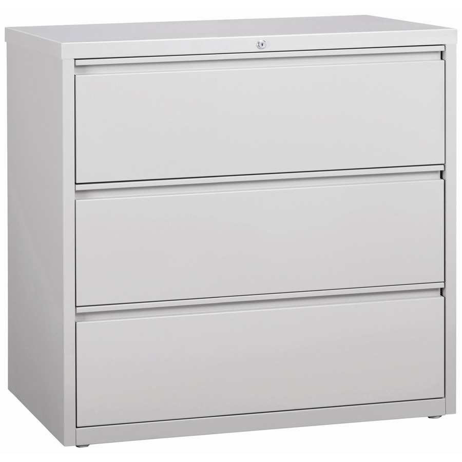 Lorell 3 Drawer Light Gray Lateral Files LLR88032