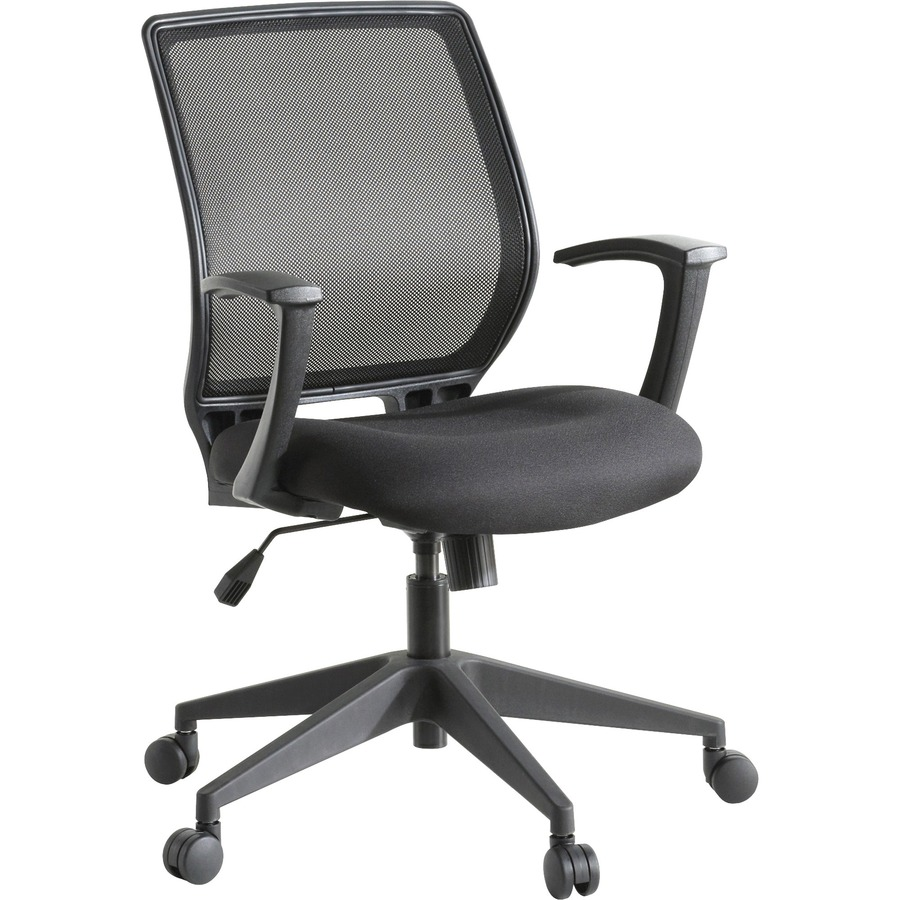 Lorell Executive Mid Back Work Chair Black Seat 5 Star