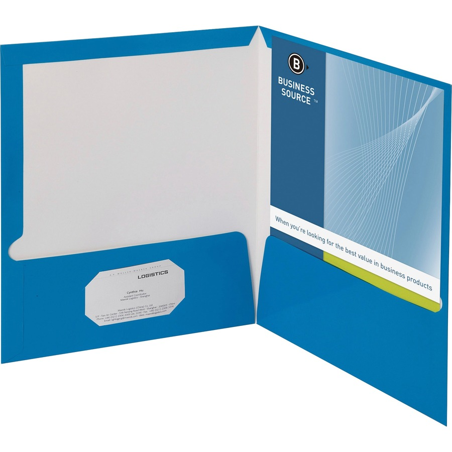 discounted prices  business source two pocket folder