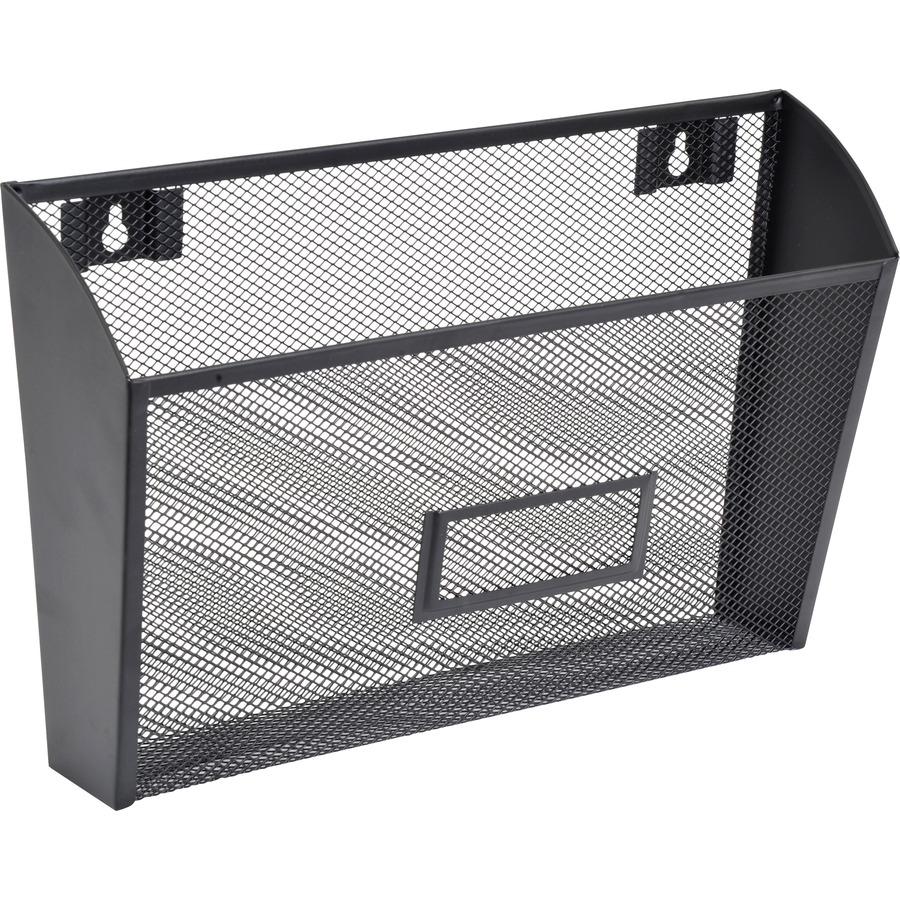 LLR84144 - Lorell Black Mesh Wire Wall Pocket - Office Supply Hut