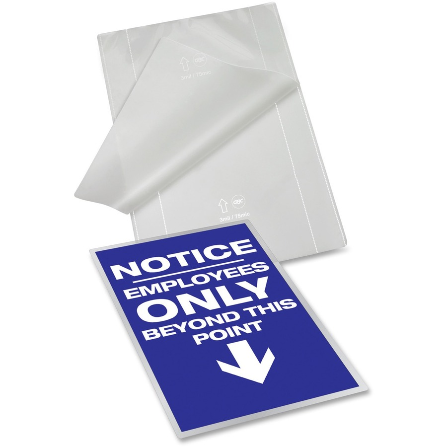 Letter Heat Seal Glossy Finish 100 Pack. Best Laminating Pouches 10mil