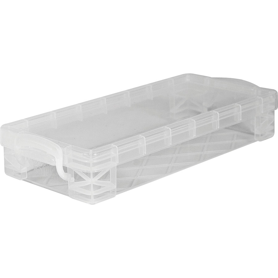 ... Pencil Box Stackable - Plastic - Clear - For Marker, Pen/Pencil