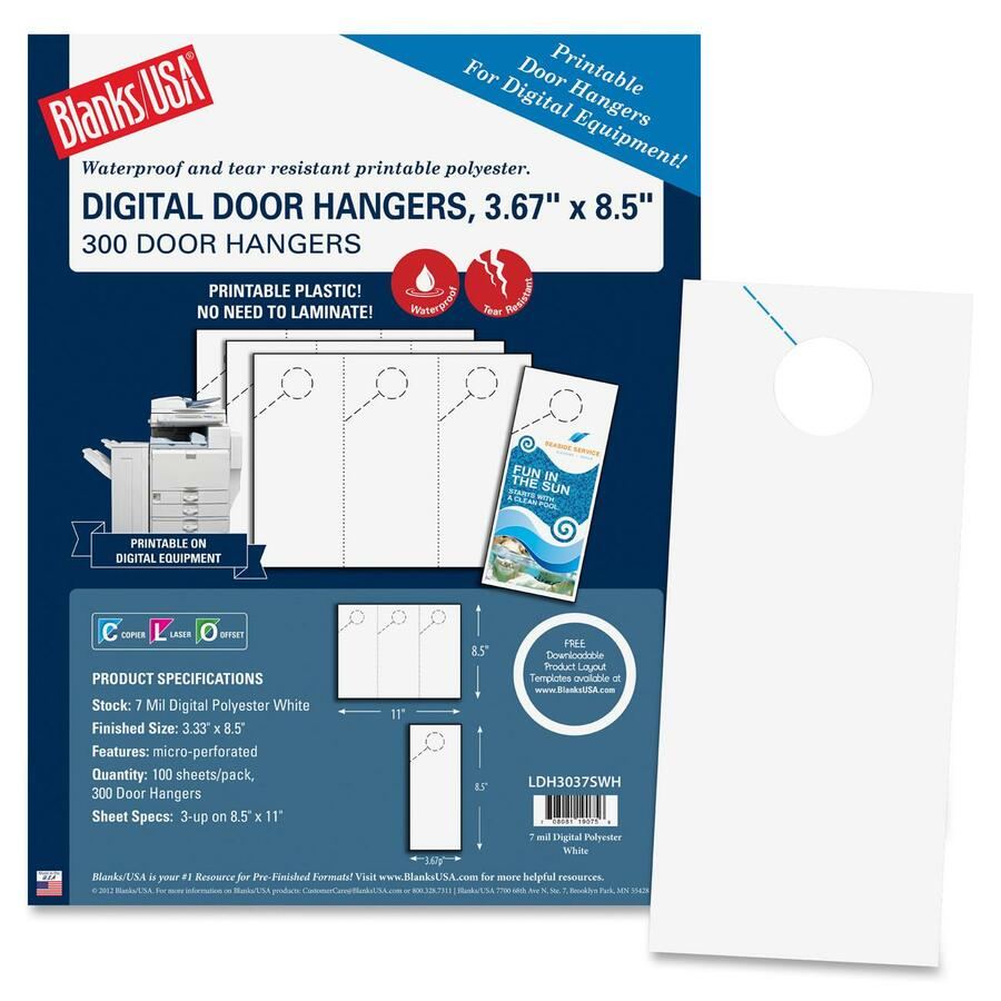 blanks usa digital door hanger 3 67 x 8 5 300 door hangers