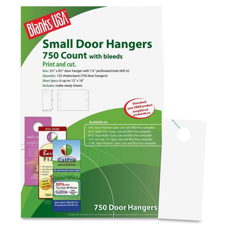 blanks usa digital door hanger 4 125 x 11 500 door hangers
