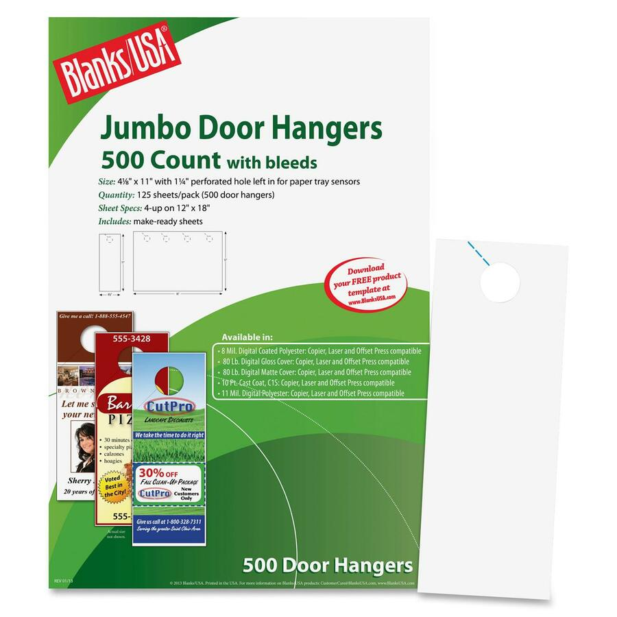 blanks usa digital door hanger 3 5 x 8 5 750 door hangers