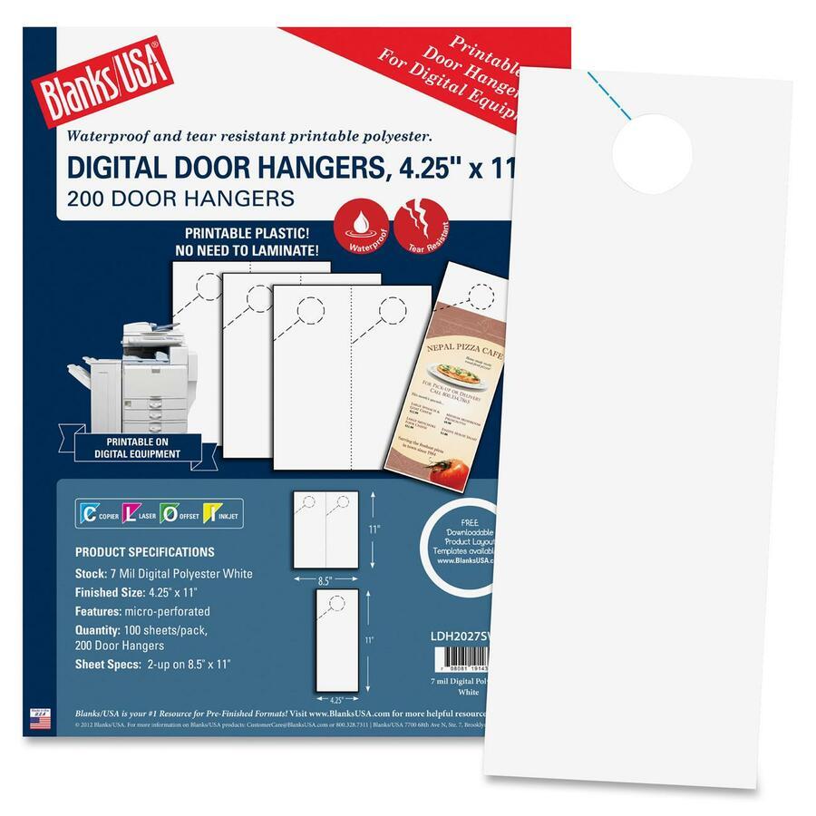 blanks usa digital door hanger 4 25 x 11 200 door hangers