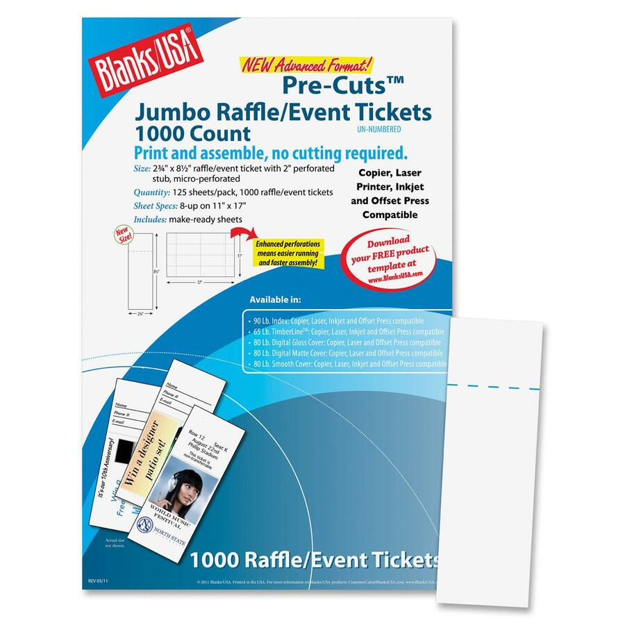 blatkg10t6bw blanks usa digital event ticket 2 75 x 8 5 1000
