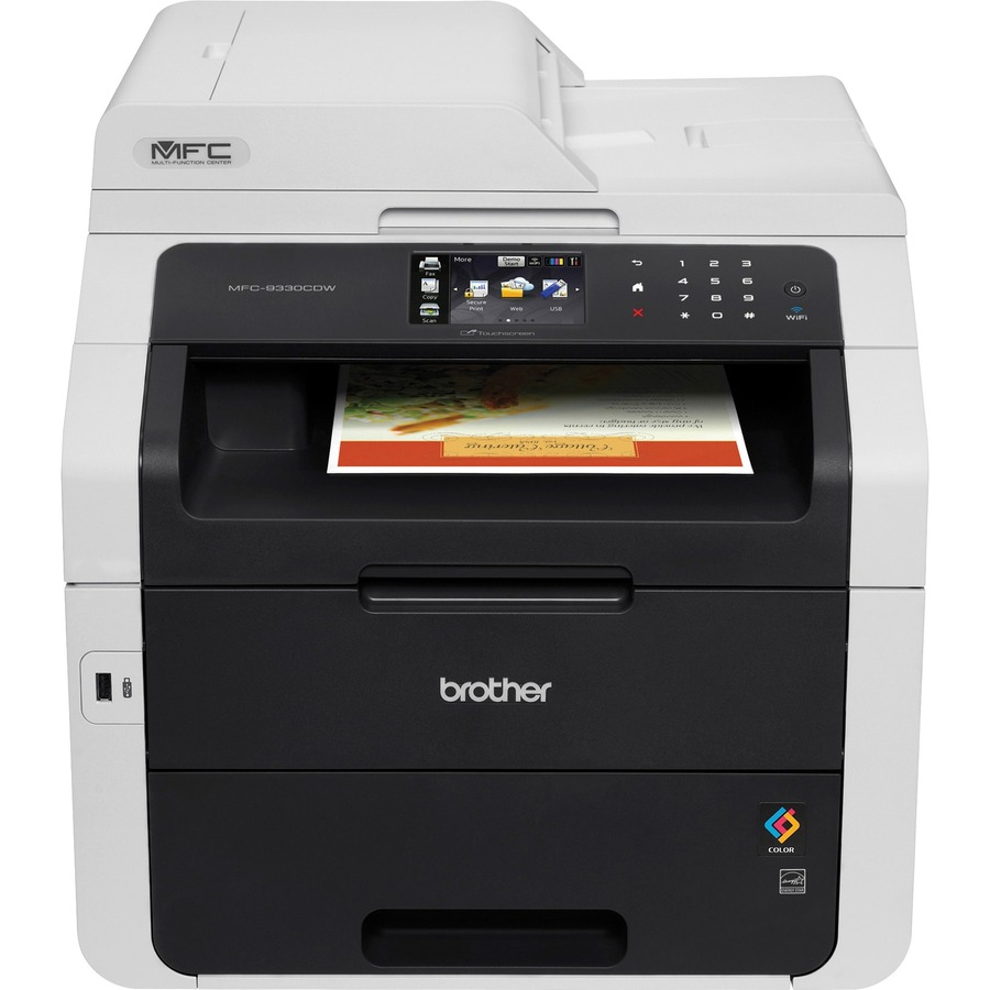 """Brother MFC-9330CDW LED Multifunction Printer - Color - Duplex Copier/Fax/Printer/Scanner  - 22 ppm Mono/22 ppm Color Print - 2400 x 600 dpi Print - 3.7"""" LCD ..."""