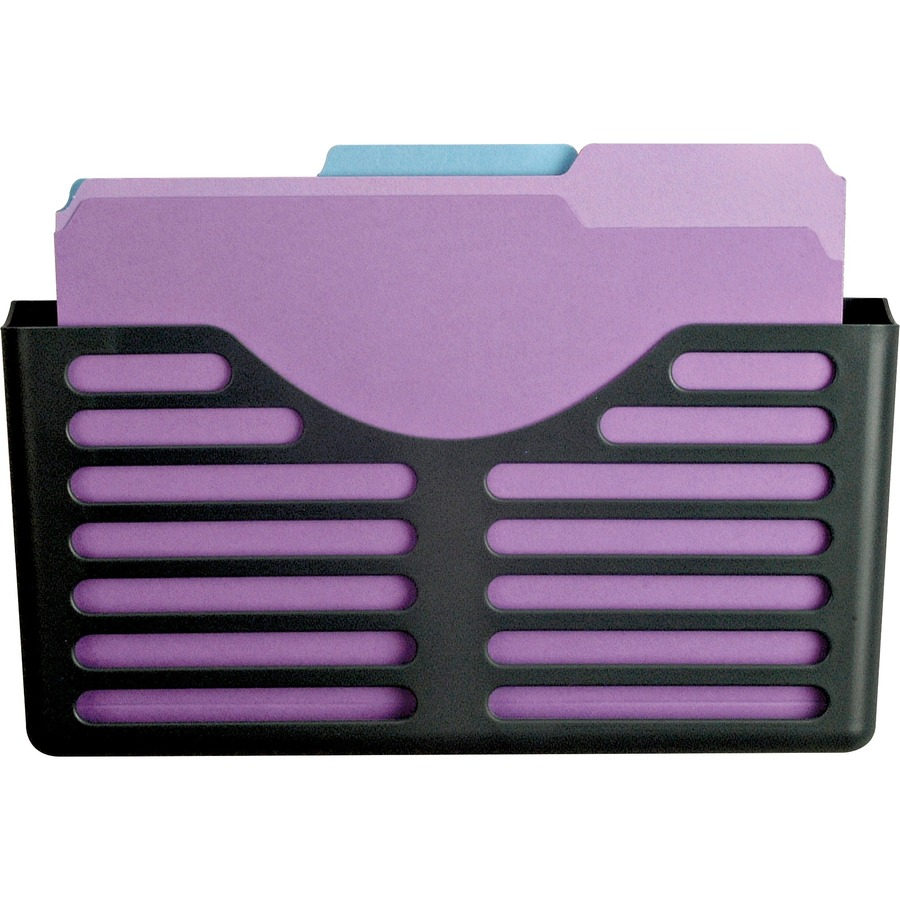 Lorell Plastic Wall Cubicle Pocket File Zerbee