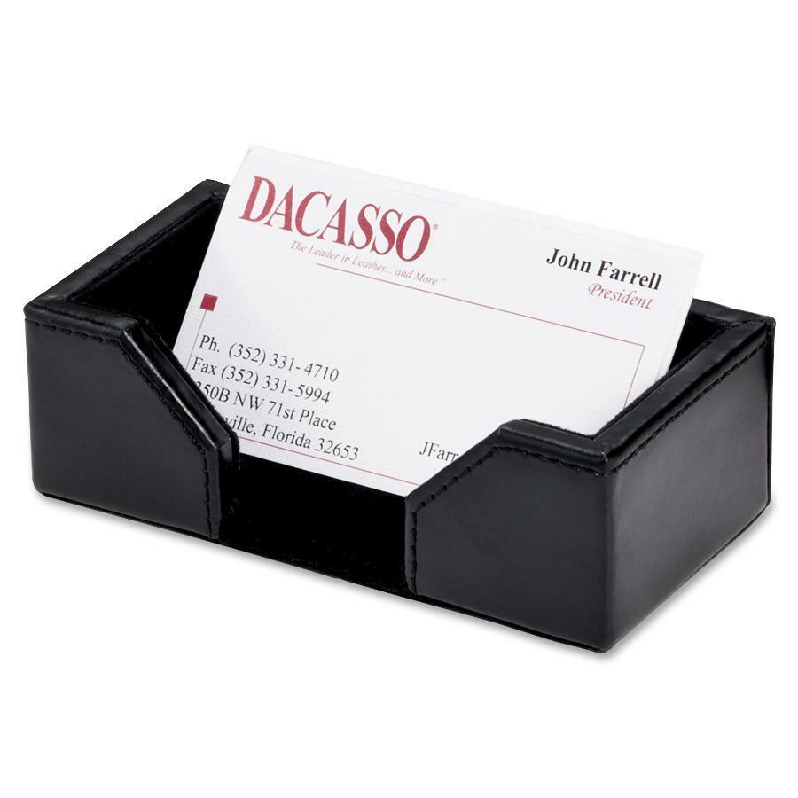 Daco Econo Line Black Leather Business Card Holder Daca1407