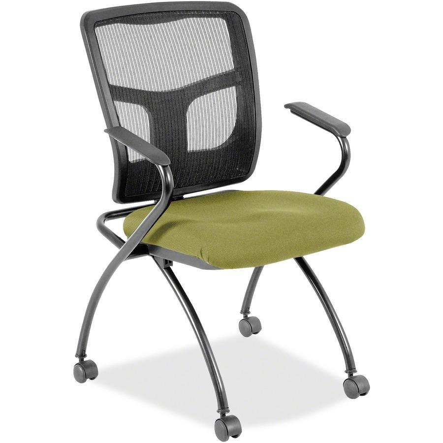 Beau Lorell Mesh Back Fabric Seat Nesting Chairs LLR8437490