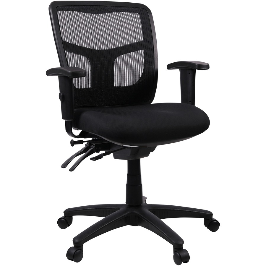 Lorell Managerial Swivel Mesh Mid Back Chair Fabric