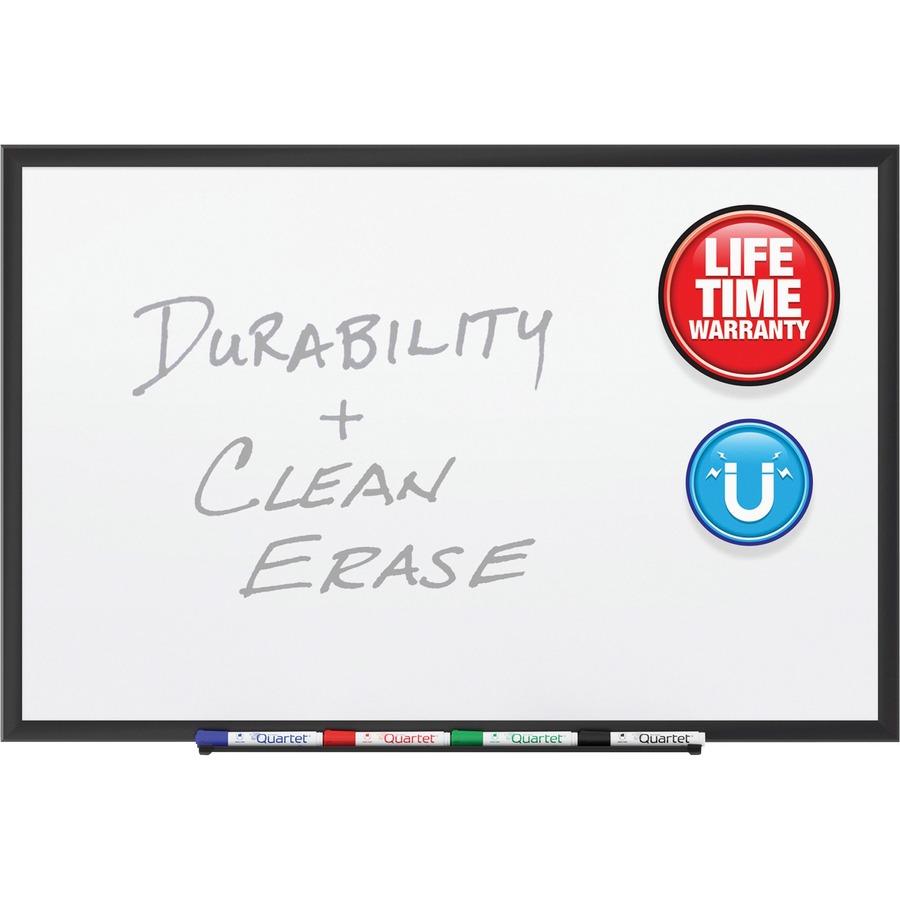 Quartet® Premium DuraMax® Porcelain Magnetic Whiteboard, 4\' x 3 ...