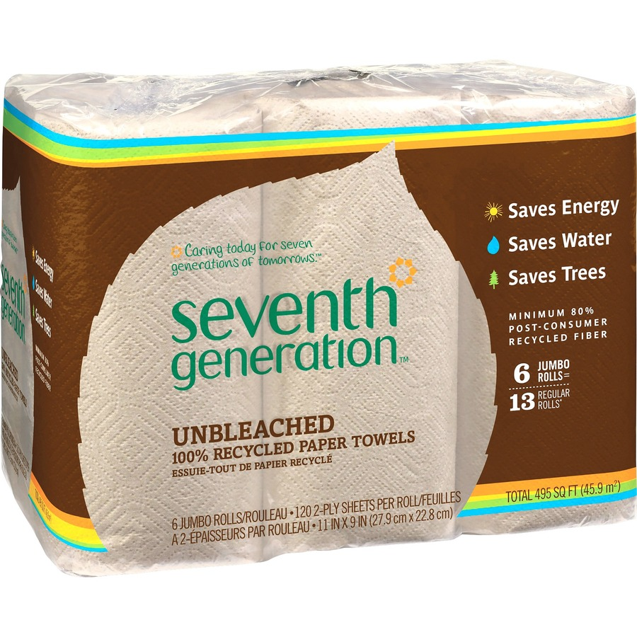 Bulk Seventh Generation Natural Unbleached Paper Towels