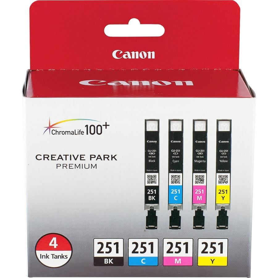 Canon CLI-251 Original Ink Cartridge; CNM CLI251BCMY ...