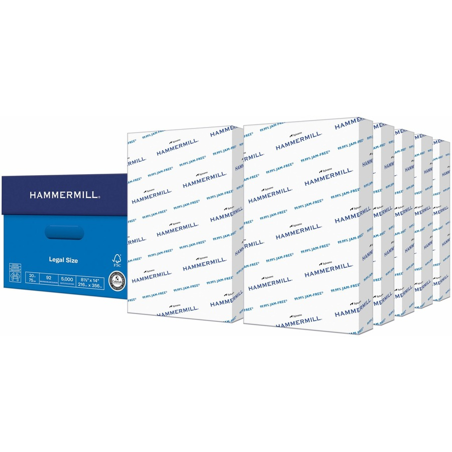hammermill paper Whether used in a printer, copier or fax machine, hammermill copy paper lets  work flow without interruption or frustration thanks to a 9999 percent jam-free.