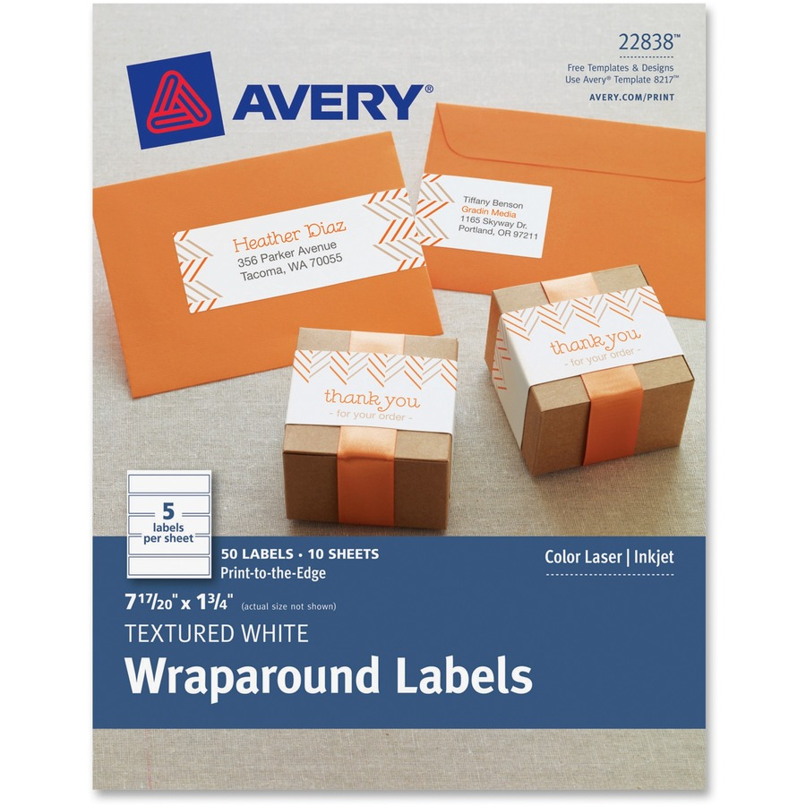 Avery Textured Wrap Around Labels AVE8217