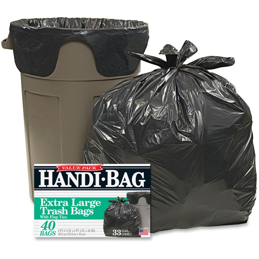 Webster Handi-Bag Wastebasket Bags - Medium Size - 33 gal - 32 50