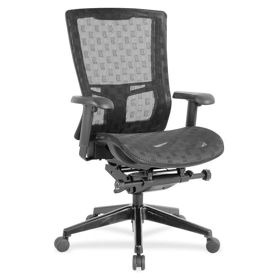 Lorell Checkerboard Design High Back Mesh Chair LLR85560