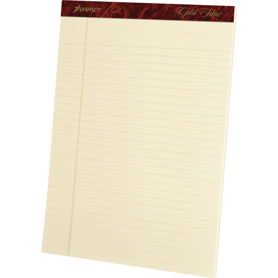 8 1//2 x 11 3//4 Green Cover Gold Fibre Wirebound Writing Pad w//Cover White 8 Pack