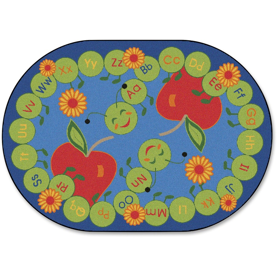 Small Abc Rug: Carpets For Kids ABC Caterpillar Oval Seating