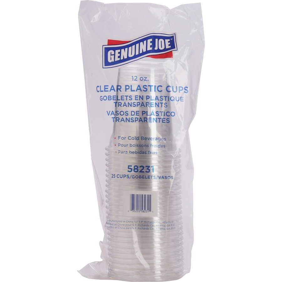 Top Clear Plastic Cup : Genuine joe clear plastic cups gjo free delivery