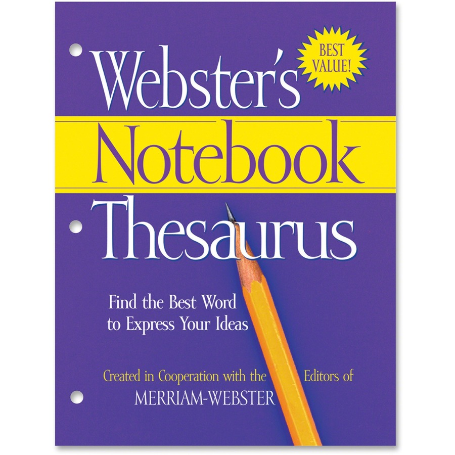 Executive Privilege Webster Definition: Merriam-Webster 3-Hole Punch Paperback Thesaurus