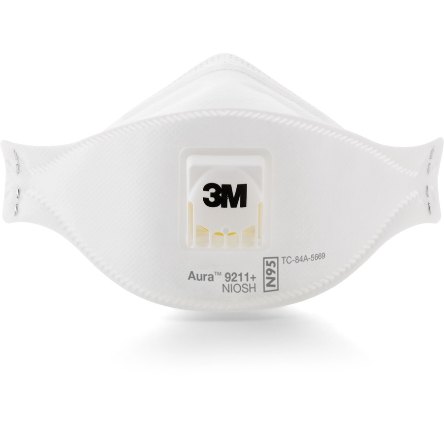 3M Aura Particulate Respirator - Comfortable, Adjustable Nose Clip,  Disposable, Lightweight, Exhalation Valve, Collapse Resistant -  Particulate, Dust,