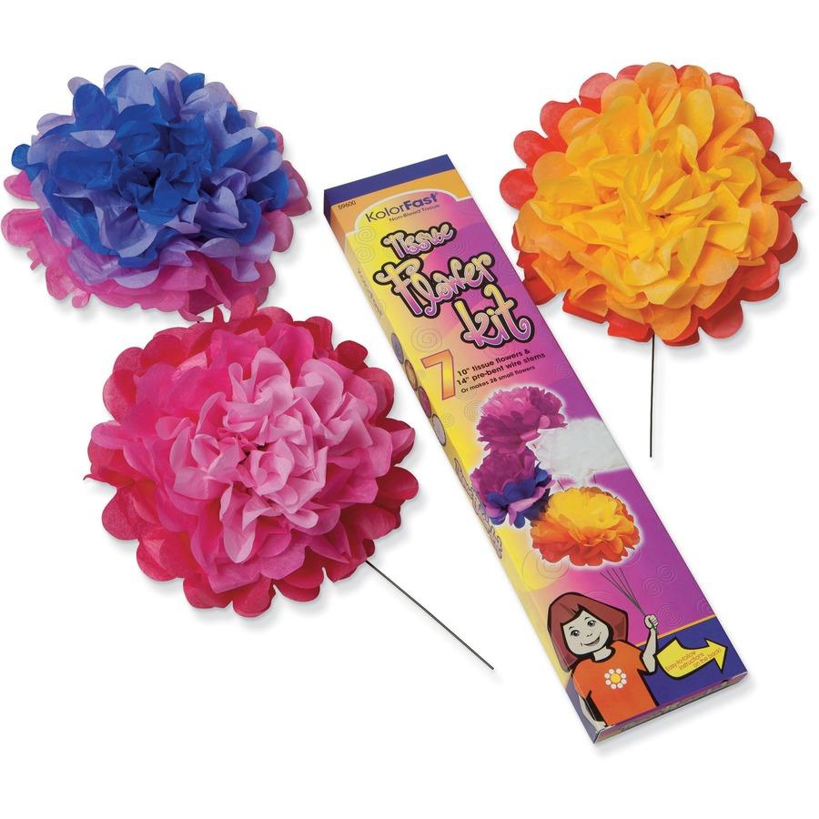Kolorfast Tissue Flower Kit Latsons Office Solutions Inc