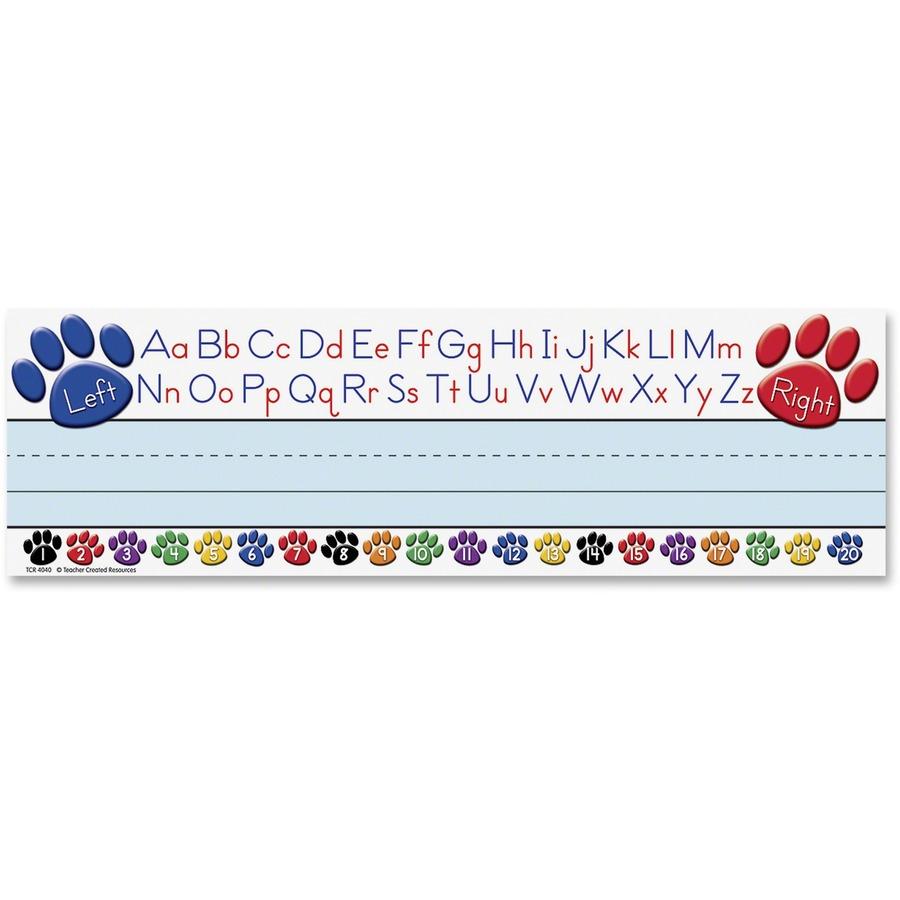 Teacher Created Resources Paw Alphabet Name Plates - Acid-free