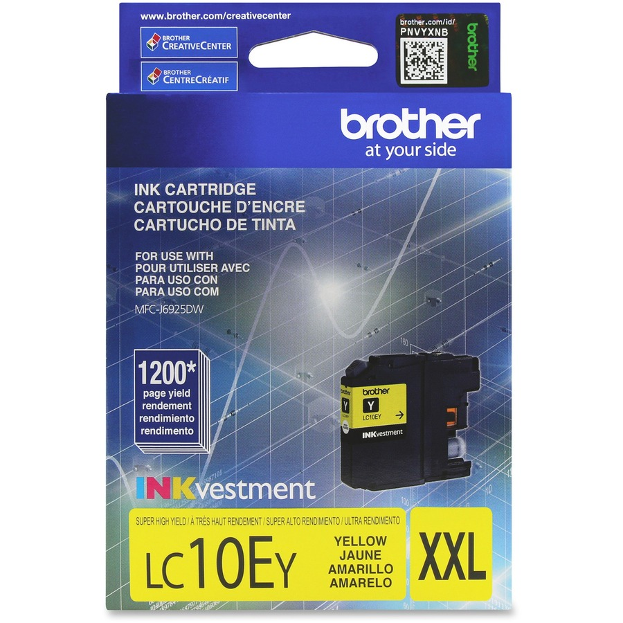 Brother Genuine Lc10ey Inkvestment Super High Yield Yellow